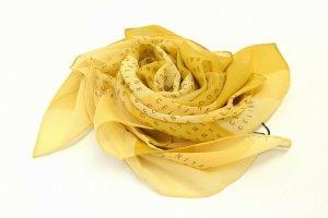 Celine Gebreide sjaal beige Zijde