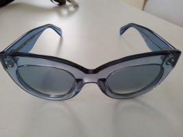 Celine Kwadratowe okulary przeciwsłoneczne błękitny