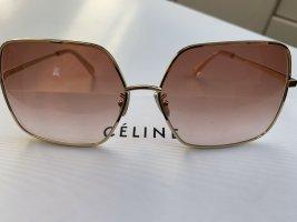 Celine Lunettes de soleil angulaires doré-or rose
