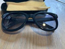 Celine Lunettes de soleil ovales noir