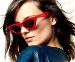 Celine Paris Gafas de sol ovaladas rojo