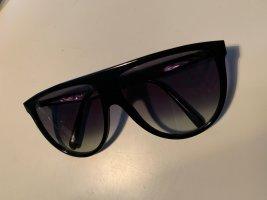Celine Lunettes de soleil rondes noir matériel synthétique