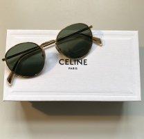Celine Round Sunglasses gold-colored-green grey