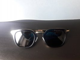 Celine Lunettes de soleil angulaires doré-noir acétate