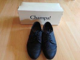 Champa Chaussures à lacets noir cuir