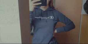 Champion Sweter z kapturem biały-ciemnoniebieski