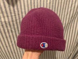 Champion Chapeau en tricot violet foncé-violet laine