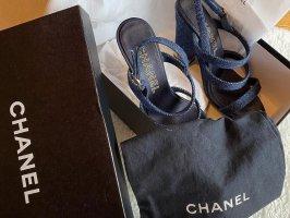 Chanel Sandaletto con tacco alto blu