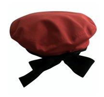 Chanel Beret black-red