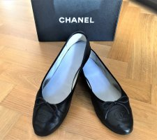 Chanel Ballerina a punta nero Pelle
