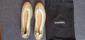 Chanel Ballerinas 38,5 Pailletten Sequin