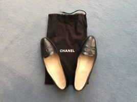 Chanel Ballerina's met kant zwart Leer