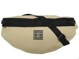 Chanel Bolsa de hombro marrón fibra textil