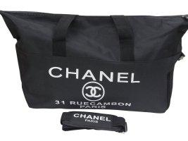 Chanel Luggage black textile fiber