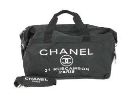 Chanel Bagage zwart Textielvezel
