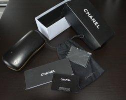 Chanel Brillenetui mit Putztuch Heftchen Karte Box Softetui
