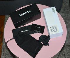 Chanel Brillenetui mit Putztuch Heftchen Karte Box Softetui gesteppt