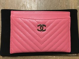 Chanel Card Case pink-silver-colored