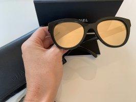 Chanel Okulary motylki czarny-złoto