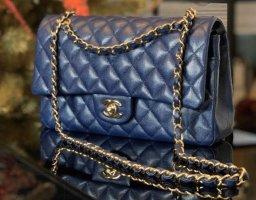 Chanel Handtas staalblauw