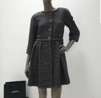 Chanel Manteau en laine gris anthracite