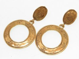 Chanel Dangle gold-colored metal