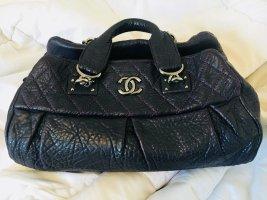 Chanel Borsa da bowling marrone-viola-viola scuro Pelle