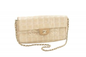 Chanel Shoulder Bag beige textile fiber
