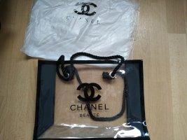 Chanel Sac fourre-tout blanc-noir tissu mixte