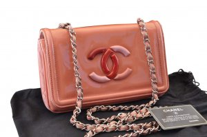Chanel Shoulder Bag pink leather