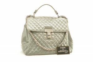 Chanel Handbag grey leather