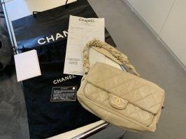 Chanel Flap Bag Leder Creme