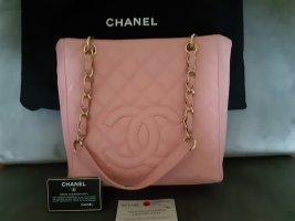 Chanel Grand Shopping Tote Leder rosa