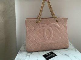 Chanel GST Shopper Tasche Puder Rosa Lammleder