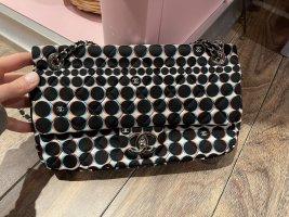 Chanel Crossbody bag black-white mixture fibre