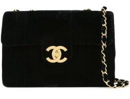 Chanel Torebka z rączkami czarny Aksamit