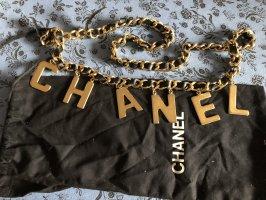 Chanel Ceinture en chaîne noir-doré