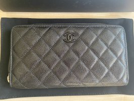 Chanel klassisches Portemonnaie, schwarz- neu
