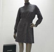 Chanel Vestito di lana grigio-grigio scuro