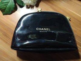 Chanel Mini sac noir-jaune primevère tissu mixte