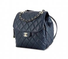 Chanel Backpack blue leather