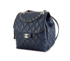 Chanel Zaino blu Pelle