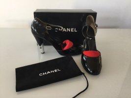 Chanel Mary Jane Toe-Cap Pumps, 40