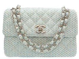 Chanel Bolso azul fibra textil