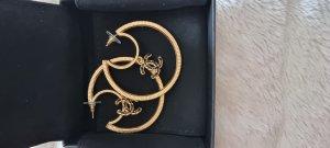 Chanel Boucles d'oreille en or doré