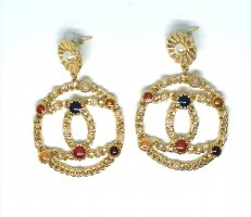 Chanel Dangle gold-colored
