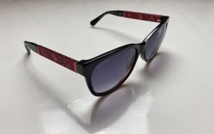 Chanel Lunettes de soleil ovales rouge framboise-rouge mûre
