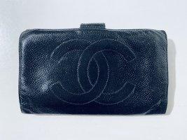 Chanel Portemonnaie/Geldbörse Caviar Leder in Schwarz