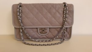 Chanel Shoulder Bag light grey leather
