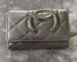 Chanel Etui na klucze czarny Skóra